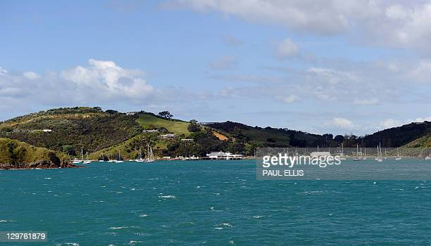 A general view of the ferry terminal and Matiatia Bay on Waiheke Island in New Zealand is seen in this photograph taken on October 20 2011 AFP...