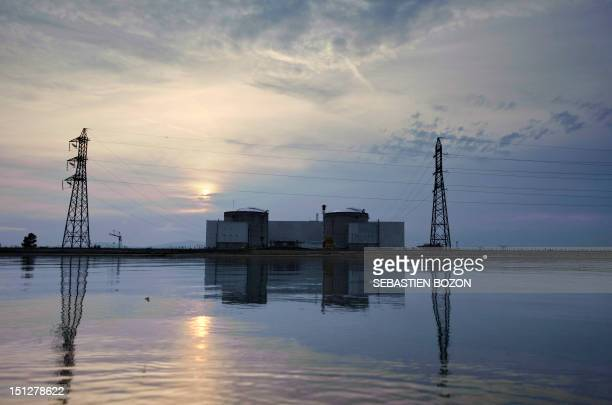 A general view of the Fessenheim nuclear powerplant taken in Fessenheim eastern France after chemical products leaked on September 5 2012 Two persons...
