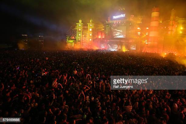 A general view of the festival area during the ParookaVille Festival on July 15 2016 in Weeze Germany