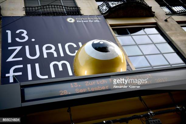 A general view of the festival centre ahead the 13th Zurich Film Festival on September 28 2017 in Zurich Switzerland The Zurich Film Festival 2017...