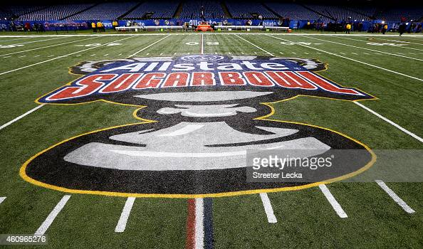 A general view of the field during the All State Sugar Bowl at the MercedesBenz Superdome on January 1 2015 in New Orleans Louisiana