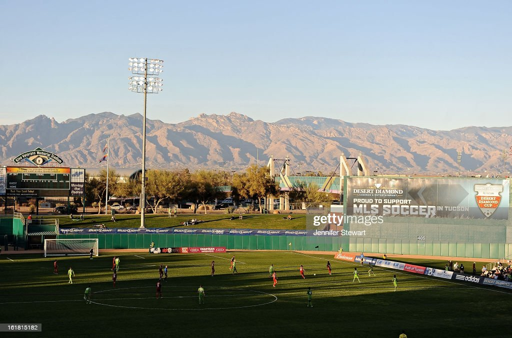 General view of the field during the game between the Seattle Sounders and Real Salt Lake in the FC Tucson Desert Diamond Cup at Kino Sports Complex on February 16, 2013 in Tucson, Arizona. Seattle Sounders defeated Real Salt Lake 2-1.