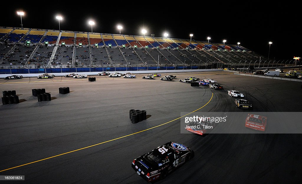 A general view of the field during the NASCAR Whelen All-American Late Model UNOH Battle At The Beach at Daytona International Speedway on February 18, 2013 in Daytona Beach, Florida.