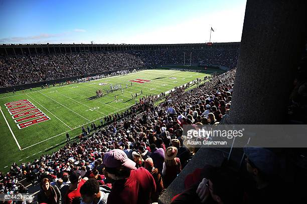 A general view of the field during the Yale Bulldogs vs Harvard Crimson football game at Harvard Stadium on November 19 2016 in Boston Massachusetts