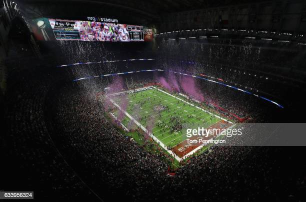 A general view of the field following the Patriots 3428 win over the Falcons during Super Bowl 51 at NRG Stadium on February 5 2017 in Houston Texas