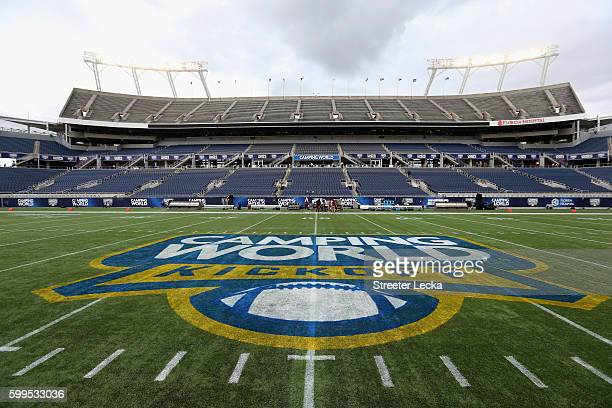 A general view of the field prior to the game between the Mississippi Rebels and Florida State Seminoles ahead of the Camping World Kickoff at...
