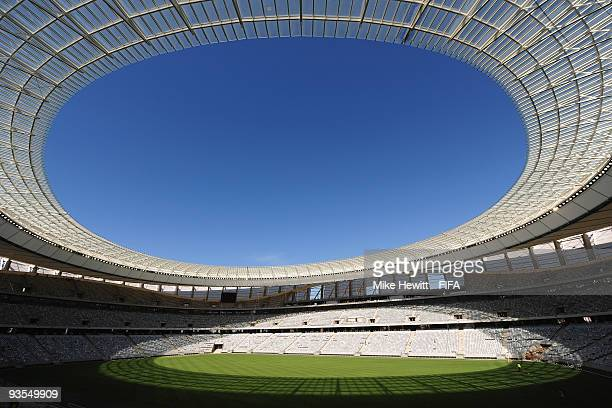 A general view of the FIFA Cape Town stadium is taken on December 2 2009 in Cape Town South Africa