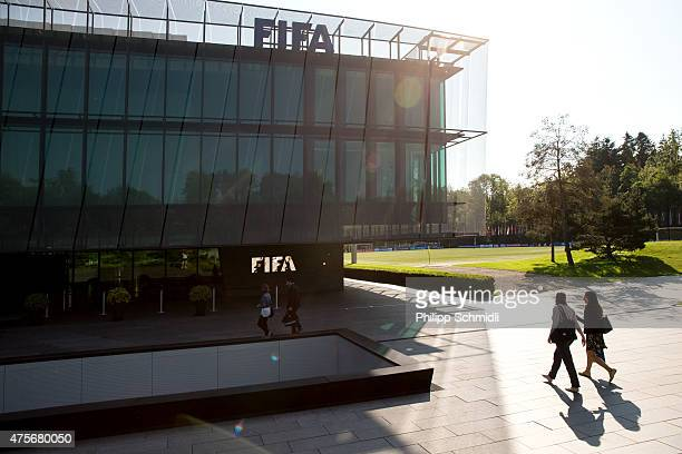 A general view of the FIFA headquarters on June 3 2015 in Zurich Switzerland Joseph S Blatter resigned as president of FIFA The 79yearold Swiss...