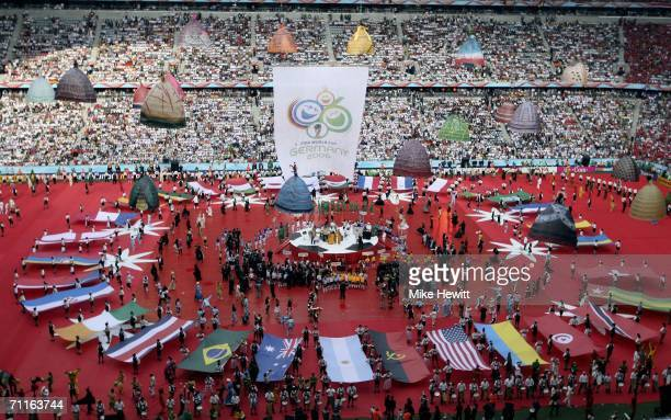 A general view of the FIFA World Cup Germany 2006 Opening Ceremony prior to the Group A match between Germany and Costa Rica at the Stadium Munich on...