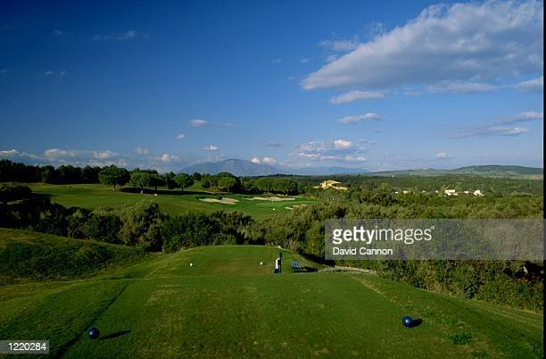 General view of the fifth hole at the Valderrama Golf Club in Southern Spain The fifth hole is par 3 Mandatory Credit David Cannon/Allsport