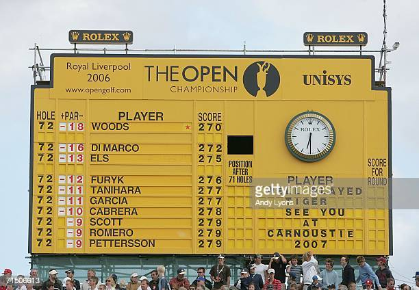 golf leaderboard stock photos and pictures