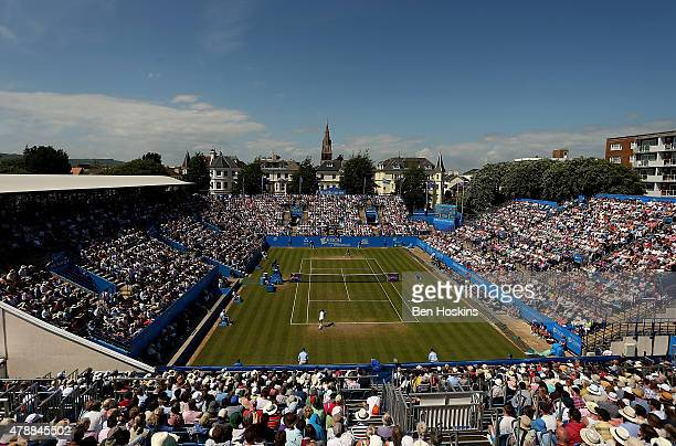 A general view of the final on day seven of the Aegon International at Devonshire Park on June 27 2015 in Eastbourne England