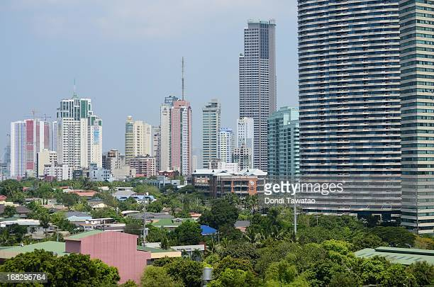A general view of the financial district of Makati City on May 8 2013 in Manila Philippines The Philippines is in the throes of a property boom that...