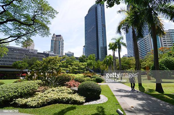 A general view of the financial district of Makati on May 8 2013 in Manila Philippines The Philippines is in the throes of a property boom that is...