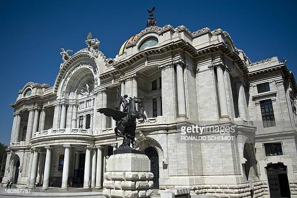 General view of the Fine Arts Palace in Mexico City on February 5 2010 The theatre is used for classical music opera and dance presentations The...