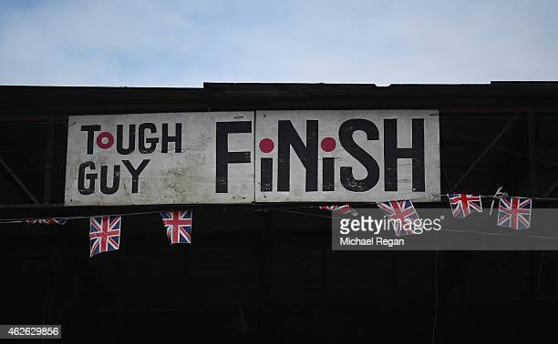 A general view of the finish line during the annual Tough Guy Challenge race on February 1 2015 in Telford England