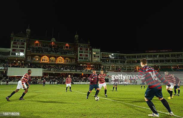 A general view of the First FA Cup Final Replay between Wanderers and The Royal Engineers at The Kia Oval on November 7 2012 in London England