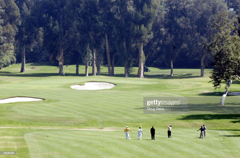 A general view of the first fairway as the AFI Golf Classic begins on September 22 2003 at the Riviera Country Club in Pacific Palisades California