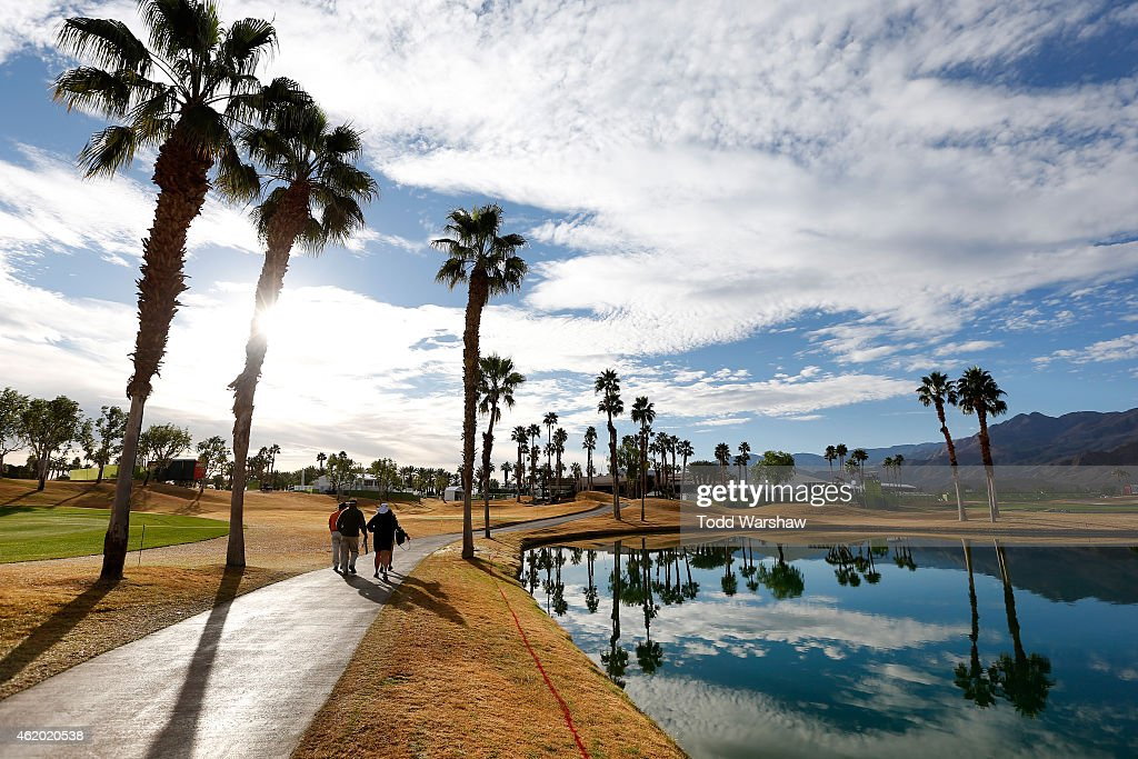 A general view of the first fairway during round two of the Humana Challenge in partnership with The Clinton Foundation on the Arnold Palmer Private...