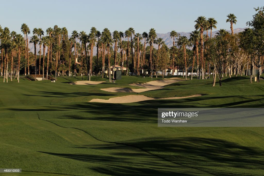 A general view of the first hole of the Arnold Palmer Private Course at PGA Westduring the second round of the Humana Challenge in partnership with...