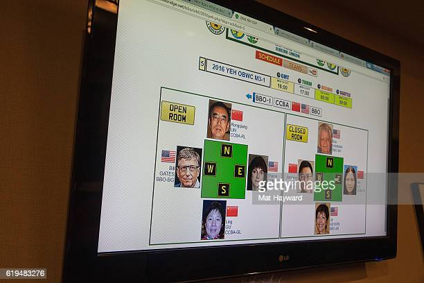 General view of the first live Yeh Online Bridge World Cup featuring Bill Gates at Silver Cloud Hotel on October 31 2016 in Seattle Washington