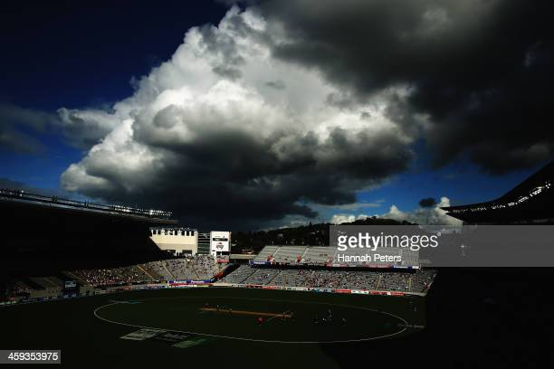 A general view of the first One Day International match between New Zealand and the West Indies at Eden Park on December 26 2013 in Auckland New...