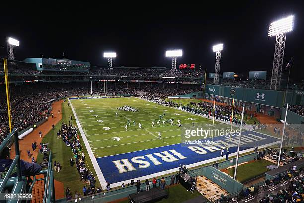A general view of the first quarter between the Boston College Eagles and the Notre Dame Fighting Irish at Fenway Park on November 21 2015 in Boston...