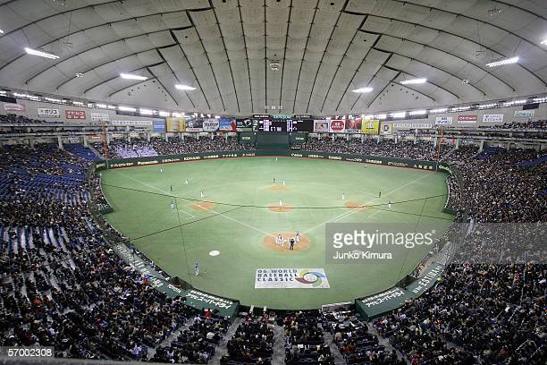 General view of the first round match between Japan and Korea of the 2006 World Baseball Classic on March 5 2006 at the Tokyo Dome in Tokyo Japan...