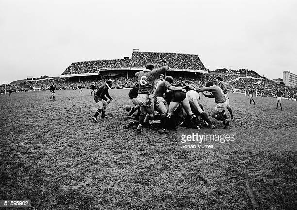 A general view of the First Test match between New Zealand and the British Lions on June18 1977 in Wellington New Zealand New Zealand won the match...