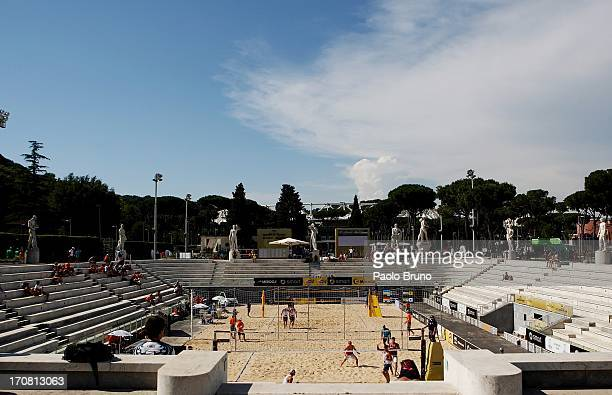 A general view of the FIVB Smart Grand Slam at Foro Italico on June 18 2013 in Rome Italy