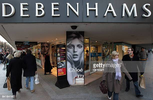 A general view of the flagship Debenhams department store on Oxford Street on January 6 2009 in London England Debenhams have announced today that...