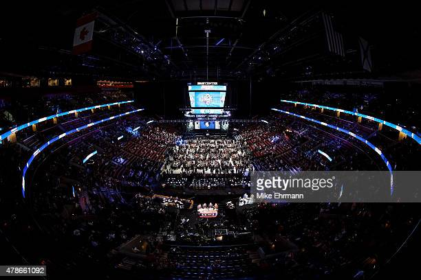A general view of the floor prior to the first round of the 2015 NHL Draft at BBT Center on June 26 2015 in Sunrise Florida