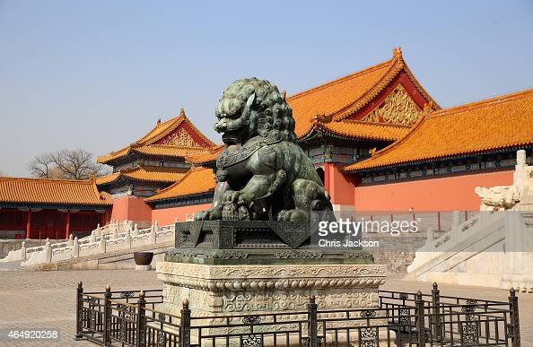 A general view of the Forbidden City on March 2 2015 in Beijing China The Duke of Cambridge is on a four day visit to China The Duke of Cambridge is...