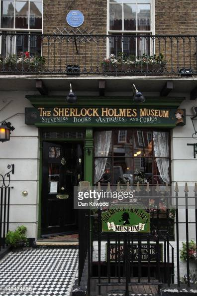 A general view of the former home of the fictional Character Sherlock Holmes on April 5 2012 in London England 221B Baker Street is the London...