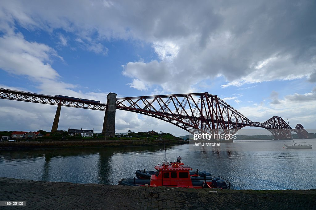 A general view of the Forth Rail Bridge on April 24, 2014 in North Queensferry, Scotland. A referendum on whether Scotland should be an independent country will take place on September 18, 2014.