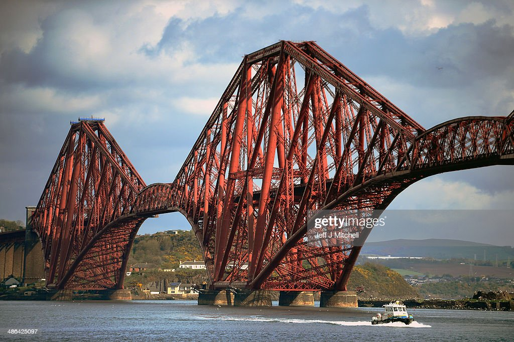 A general view of the Forth Rail Bridge on April 24, 2014 in South Queensferry, Scotland. A referendum on whether Scotland should be an independent country will take place on September 18, 2014.