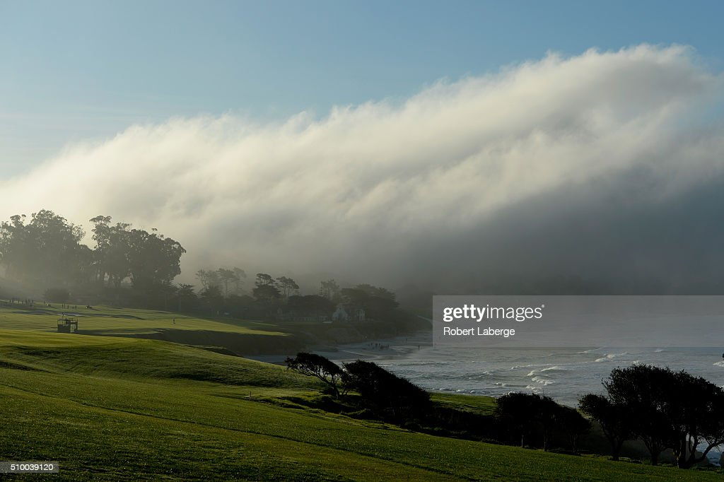 A general view of the fourth hole during round three of the AT&T Pebble Beach National Pro-Am at the Pebble Beach Golf Links on February 13, 2016 in Pebble Beach, California.