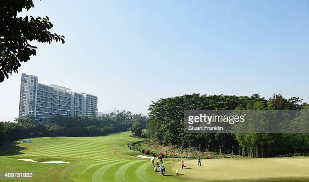 A general view of the fourth hole prior to the start of the Shenzhen International at Genzon Golf Club on April 15 2015 in Shenzhen China