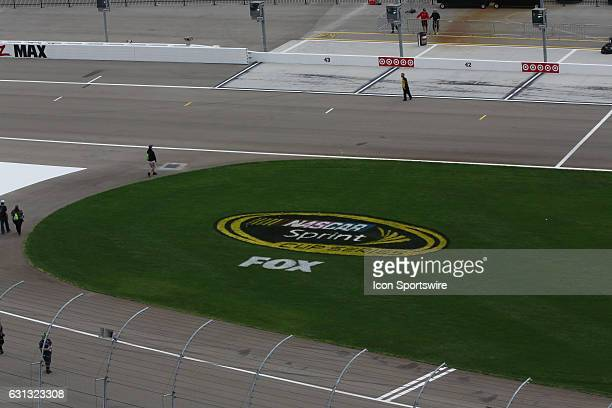 A general view of the Fox television and NASCAR Sprint Cup Series logo on the infield before the Kobalt 400 NASCAR Sprint Cup Series race on March 6...