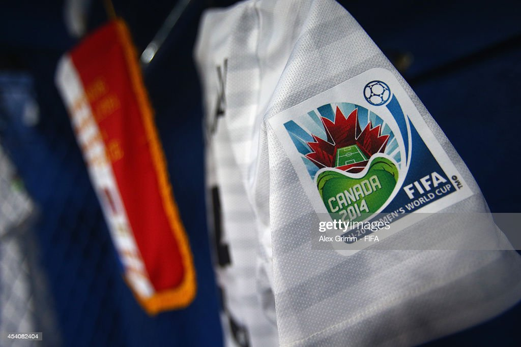 General view of the France dressing room prior to the FIFA U-20 Women's World Cup Canada 2014 3rd place match between Korea DPR and France at Olympic Stadium on August 24, 2014 in Montreal, Canada.