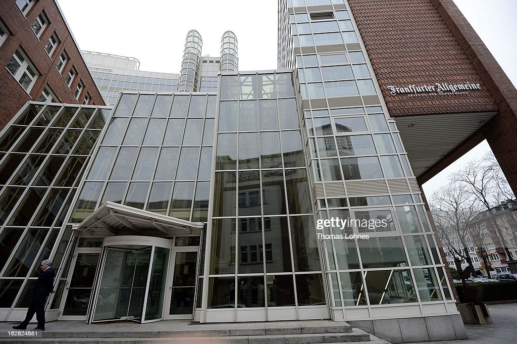 A general view of the Frankfurter Allgemeine Zeitung heatquaters on February 28, 2013 in Frankfurt am Main, Germany. The Frankfurter Rundschau has been bought by the Frankfurter Allgemeine Zeitung after the Federal Cartel Office in Bonn allowed the acquisition on Wednesday afternoon.