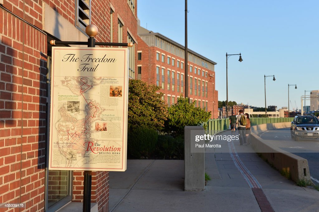 A general view of the Freedom Trail on August 30, 2014 in Boston, Massachusetts.