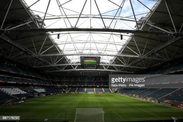 A general view of the Friends Arena Stockholm in Sweden ahead of the Europa League Final against Ajax tomorrow evening PRESS ASSOCIATION Photo...