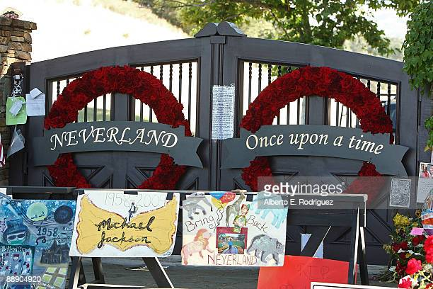 General view of the front gate at Neverland Ranch on July 8 2009 in Los Olivos California