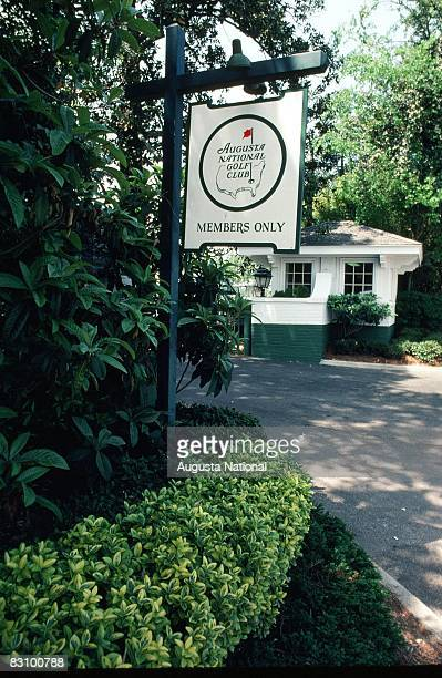 General View Of The Front Gate Of The Augusta National Golf Club During The 1982 Masters Tournament