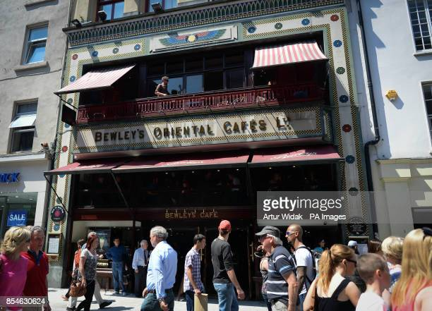 A general view of the front of Bewley's Cafe on busy Grafton Street in Dublin Ireland as the cafe has lost its longrunning fight to stop its landlord...