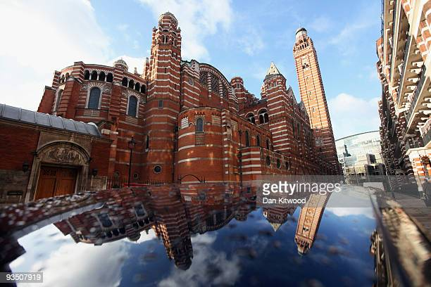 A general view of the front of Westminster Cathedral on November 30 2009 in London United Kingdom The English Heritage Cathedrals Fabric Condition...