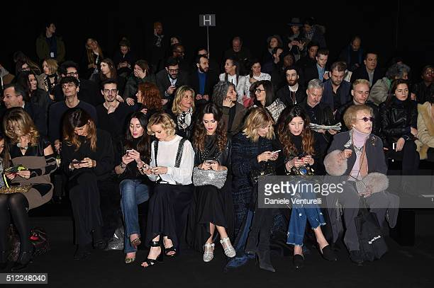 A general view of the front row ahead the Anteprima show during Milan Fashion Week Fall/Winter 2016/17 on February 25 2016 in Milan Italy