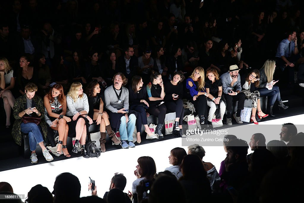 A general view of the front row during the Mercedes-Benz Fashion Week Istanbul s/s 2014 presented by American Express on October 8, 2013 in Istanbul, Turkey.