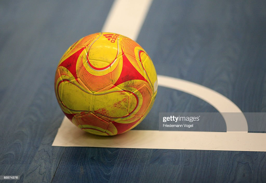 A general view of the Futsal ball during the DFB Futsal Cup final between at the RheinRuhrSporthalle on March 23 2009 in Muelheim Germany